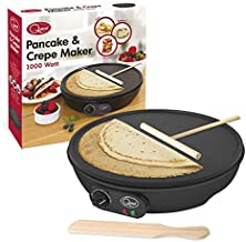 "Quest 35540 Traditional Electric Pancake & Crepe Maker 12"" Hot Plate and Utensils, 1000W,"