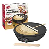 "Quest 35540 Traditional Electric Pancake & Crepe Maker 12"" Hot Plate and Utensils"