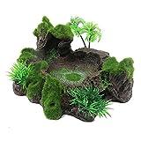Yyoutop Resina Acuática, Decoraciones para Acuarios, Adorn Diseño de Tronco de árbol Artificial para Acuario Plataforma de Reptil de Resina Decorativa de Acuario. (Color : B)