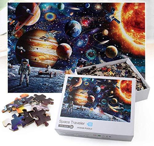 3T6B 1000 Piezas de Juegos de Rompecabezas espaciales, Juegos educativos para niños y Adultos, adecuados para el Ejercicio de Pensamiento de los niños, interacción Entre Padres e Hijos.