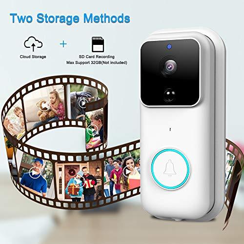 POWERGIANT Sonnette Vidéo, Visiophone sans Fil HD 1080P avec Conversation Bidirectionnelle Vision,...