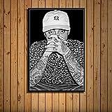 zhuifengshaonian Mac Miller Rap Hip Hop música Estrella Cantante Arte Pintura Lienzo póster Pared decoración del hogar Obra de Arte(ZE-719) Sin Marco Poster 40x60cm