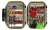 72pcs Kits de Pesca con Mosca, LAEMALLS Cebos Artificiales de Hechos a Mano, Accesorios Cebos...