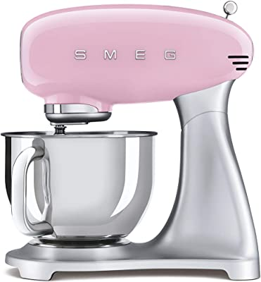 Smeg 1950's Retro Style Aesthetic Stand Mixer (Pink)