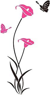 FFAA Etiqueta de la Pared estéreo de acrílico 3D Etiqueta Decorativa del Espejo del Paisaje de la Flor Rural