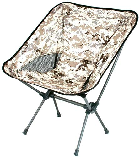 DONG Outdoor-Camping-Klappstuhl Tragbarer Moon Chair Fischen-Stuhl Beach Zurück Skizze Stuhl Barbecue Hocker Director Chair (Color : Beige)