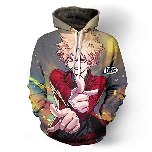 Zaguanxsa Männer My Hero Academia 3D-Print Pullover Hoodie Sweatshirt Mit Fronttasche-W10_4_XL