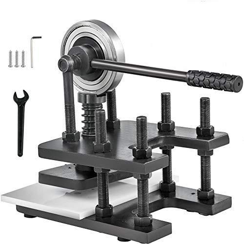VEVOR Máquina de Corte de Cuero Troqueladora Manual Máquina de Estampado de Cuero180x120mm Negro Máquina de Corte Artesana para Diversos Materiales