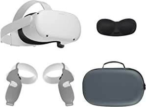 2020 Oculus Quest 2 All-in-One VR Headset, 64GB SSD, Óculos Compitble, Áudio 3D, Mytrix Maleta, aperto Tampa, Tampa da lente