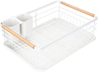 Modern Wood Handle Dish Rack and Drain Board, Attom Tech Home 16.5