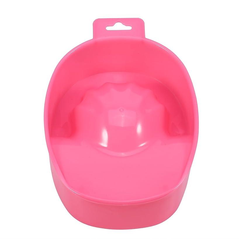 ブローホール無人シャーロットブロンテネイル用品ツール、デッドスキンクレンジング&ソフトニングケアボウル ネイル洗面器 爪リムーバー クレンジングハンドボウル(粉色)