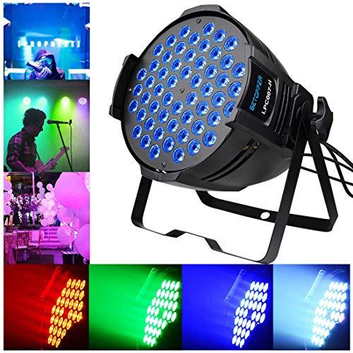 BETOPPER ステージライト 舞台照明 LED 回転 RGB DMX 512 照明ライト クラブ ムービングライト ディスコライト パーライト ストロボ DJ/照明/演出/舞台/ディスコ/パーティー/KTV/結婚式/クラブ/バー イルミネーション (LPC007-H)