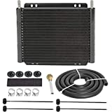 American Volt Heavy Duty 11' Inch Aluminum Transmission Oil Cooler High Performance Remote Trailer Towing Cooling Kit