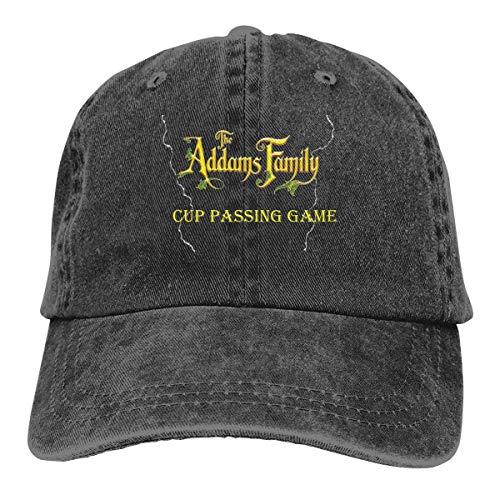 FUGVO Cappelli Personalizzati Stampati Nero La Famiglia Addams Cappello da Cowboy Casquette Taglia Unica