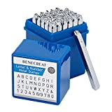 BENECREAT 36 Pack (3 mm 1/8') Sellos de Letras y números Herramientas Estampadas de Metal Perforado...