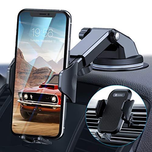 andobil Handyhalterung Auto Lüftung & Saugnapf Upgrade 4,0 Ultra Stabile 3 in 1 Universale Kfz Handyhalterung 360° Drehbar Autohalterung Handy für iPhone 11 SE Samsung S20 S10 A51 HUAWEI Xiaomi LG usw
