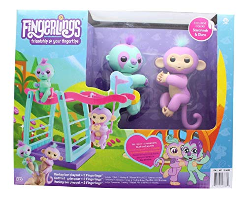 WowWee Fingerlings Playset - Monkey bar/Swing Playground with One...