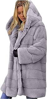 Women Fuzzy Fleece Jacket Open Front Hooded Cardigan Coat Outwear Hoodie Casual Draped Oversized Hooded Top