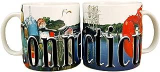 Americaware SMCON01 Connecticut 18 oz Full Color Relief Mug