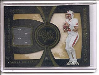 Jacoby Brissett NC State Wolfpack/Indianapolis Colts 2016 Panini Black Gold Shadow Box Swatches Jersey Memorabilia Rookie Football Card #189/199