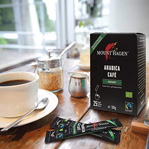 マウントハーゲンオーガニックフェアトレードカフェインレスインスタントコーヒースティック50g(2g×25P)インスタント(スティック)