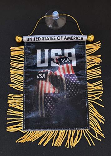PRK 14 American USA Boxhandschuhe, Mini-Flagge für Autozubehör, zum Aufhängen, Rückspiegel, Auto-Innendekoration, Kleidung, Rucksack, Autos, Auto (USA)
