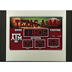 Team Sports America Texas A&M Aggies Scoreboard Desk Clock