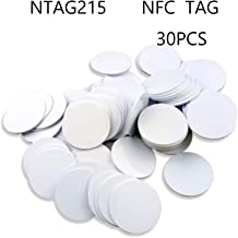 Ntag215 NFC Tags,Blank PVC Coin NFC Cards 30mm(1.18 inch) Compatible with Amiibo and TagMo,504 Bytes Memory,Compatible wit...
