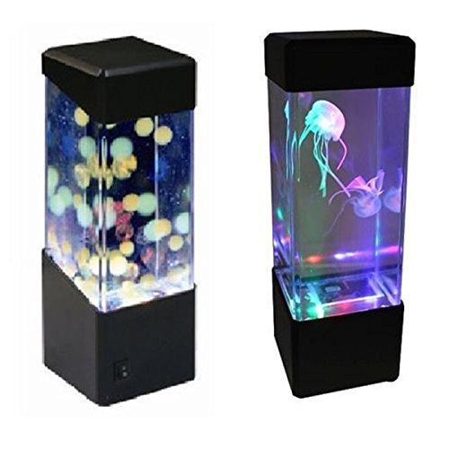 Zantec LED Mini Fisch Tank Wasser Licht Box Wasser Ball Aquarium Jellyfish Lampe Nachttisch Schrank Beleuchtung Nachtlicht