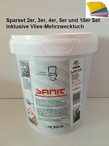 Sanit Wasserkastenwürfel im Sparset 2,3,4,5,10er Set inkl.Mehrzwecktuch pro Bestellung (3)