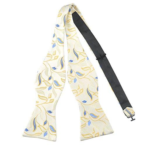 PenSee Nœud papillon papillon moderne en soie tissée Motif floral Différentes couleurs - - Taille Unique