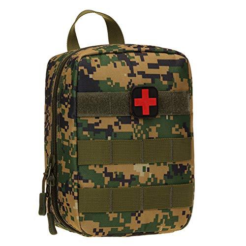 Selighting Sac Médical de Premiers Secours Vide Tactique Pochette EMT Médecine Molle Trousse de Premiers Secours pour Randonnée Camping Airsoft Voyage (Camouflage Vert)