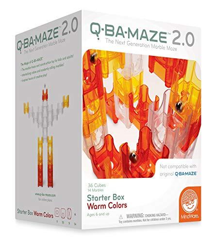 MindWare Q-Ba-Maze Colors Starter Set, Warm Colours Constru