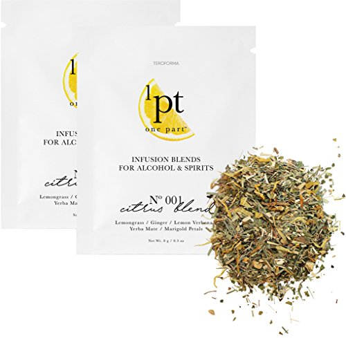 Teroforma 1pt CITRUS Infusion Blend for Alcohol & Spirits - Flavor Infuser Packets for Home Infusion (Single Pack, 2 Packets)