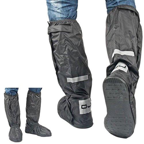 Surchaussures Bottes Imperméable Pluie Noir avec semelle rigide Nombre 42 43 moto scooter OJ R012