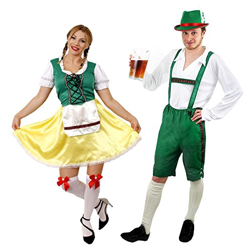 ILOVEFANCYDRESS - Disfraz de pareja de traje bávaro para adultos (varias tallas)