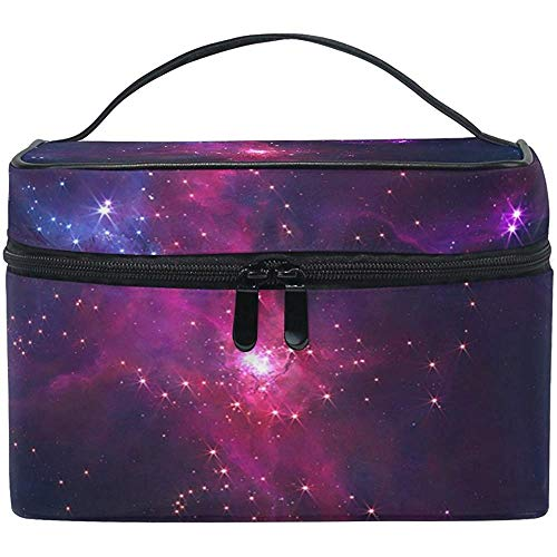 Trousse de maquillage Galaxy Art Star Sky Travel Cosmetic Bags Organizer Train Case Toiletry Make Up Pouch