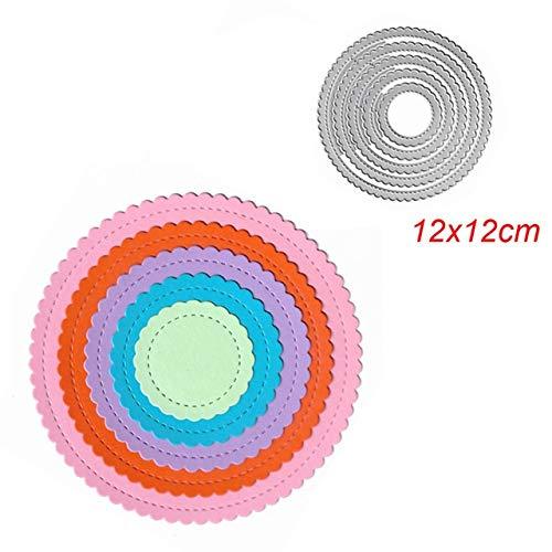 QWERTYU LIFUQIANGME Vierkante Ster Hart Rechthoek Cirkel Sterft Rahmen Metalen snijden Sterven Voor DIY Scrapbooking Papier Kaarten Die Cuts Fotoalbum Maken (Kleur : Plum)