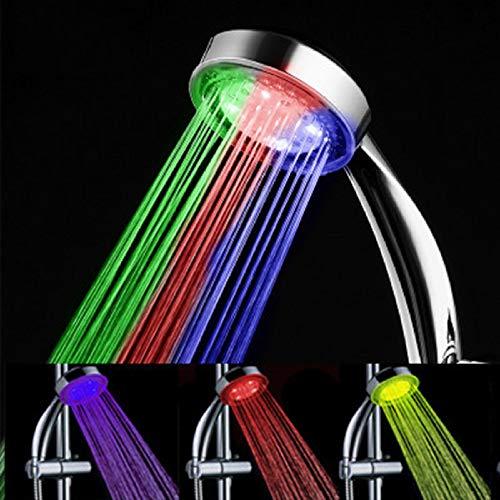 KangYD Alcachofa, Ducha de mano LED de alta presión, accesorios de baño, rociador autoluminiscente de control de temperatura, rociadores de lluvia para ahorro de agua, kit de ducha