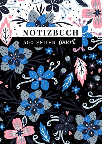 NotizBuch liniert: 📕 500 Seiten | Extra dickes Notizbuch | DIN A4 - 21 x 29,7 cm | Softcover | NOTEBOOK | V.08