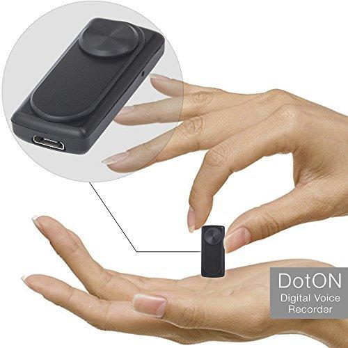 Mini Diktiergerät, Stimmenaktivierung, 90 Stunden Aufnahmekapazität, Einfach zu Verwenden Aufnahmegerät, 20 Stunden Akku, 8GB aTTo Digital Voice Recorder