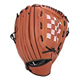 Unihoh Baseball Glove Softball Gloves – Right Hand Throw – Adult and Youth Sizes – 12,5in Size Mitts — Easy Break in Baseball Mitt (12.5 inch, Brown)