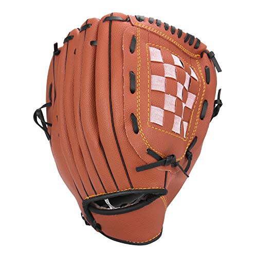 Unihoh Baseball Glove Softball Gloves – Right Hand Throw – Adult and Youth Sizes – 12,5in Size Mitts — Easy Break in Baseball Mitt (10.5 inch, Brown)
