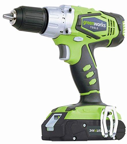 Greenworks Tools 3700507VC 24V Akku-Bohrschrauber inklusive 2 Akkus 2 Ah und Ladegerät