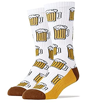 Oooh Yeah Socks Men s Luxury Combed Cotton Athletic Funny  Beer Me! white