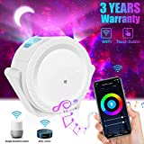 Tanbaby Smart Star Projector, WiFi Galaxy Light Projector for Bedroom, Star Light Projector for Bedroom Work with Alexa/Google Assistant 3 in 1 Starry Moon Room Sky Projector Voice Control, DIY Light