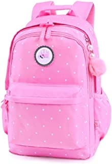 ACSH Backpack Bag, Boy and Girl School Bag, School Bag for Elementary School Grades 2-6, Multi-Layered Large-Capacity Pink Backpack (Color : Pink)