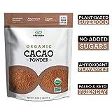 Eternae By Nature Organic Cacao Powder, 16 Oz - Keto, Vegan, Non-Gmo, Sugar-Free, Gluten-Free - Contains Omega-3'S, Fiber & Protein - Baking, Smoothies, Cereals, Oatmeal, Yogurt