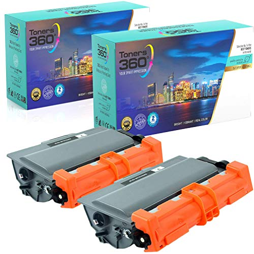 Pack 2 Toners compatibles Brother TN3330/TN3380 para DCP-8110DN DCP-8250DN; HL-5440D HL-5450DN HL-5450DNT HL-5470DW HL-6180DW HL-6180DWT; MFC-8510DN MFC-8520DN MFC-8950DW MFC-8950DWT