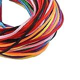 10stk Halsband Halskette 2,5mm Makramee Halsketten Schmuckband Set Mix Kette mit Karabinerverschluss und Verlängerungskette Band 2,5mm Makramee Halsketten für DIY Schmuck Herstellung C1